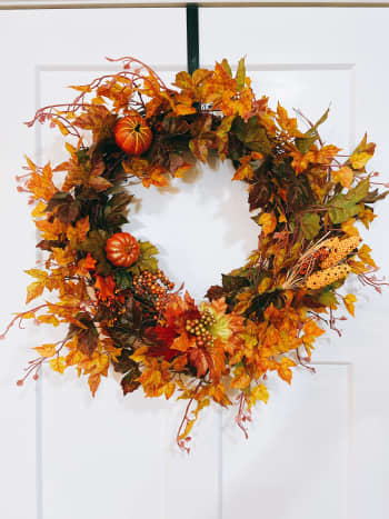 This is a wreath that I made for my front door last year.