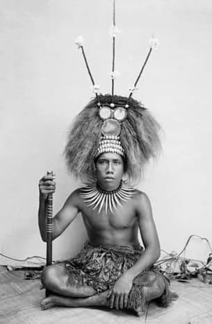 The son of a Samoan chief about 1890.