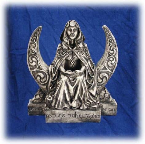 The Virgin Goddess Sitting Upon The Cresent Moon