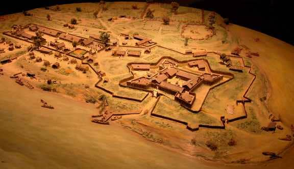 France's Fort Duquesne, built in 1754 and destroyed in 1758.