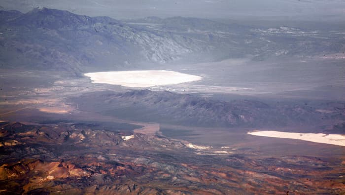 Groom Lake and the airbase at Area 51.