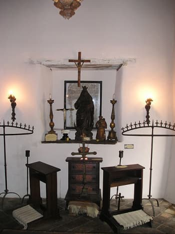 Inside of Spanish Govenors Palace in San Antonio, Texas. Built in 1749, the adobe structure formerly served as the residence and headquarters for the captain of the Spanish presidio.
