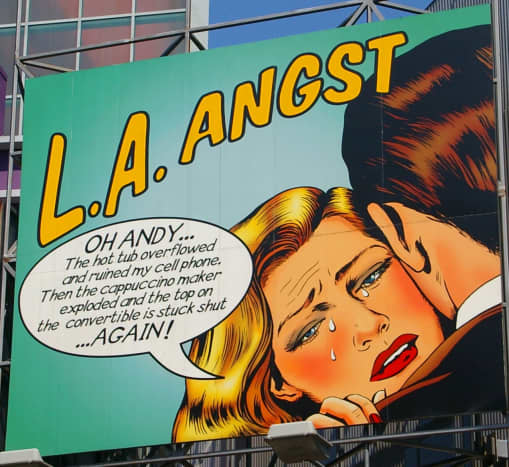 The woes of white privilege lampooned in downtown Los Angeles.