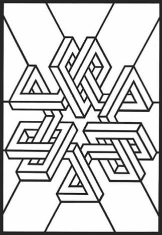 Geometric Design Colouring Pictures Stained Glass Colouring Pages to Print and Colour - infinity