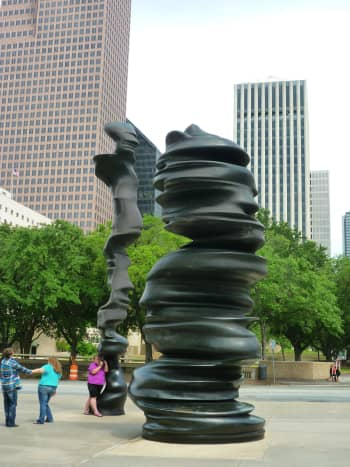 """""""In Minds"""" sculpture by Tony Cragg in downtown Houston, Texas"""