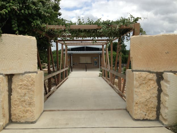 Entrance to Splash Pad Williamson County Regional Park  Leander and Cedar Park TX