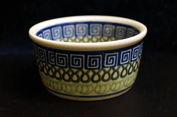 My little Polish, hand-painted dish.  My apologies that I've misplaced my literature and can't tell you the vendor name.