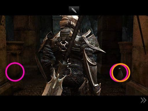 During the cutscene as Siris is entering the cavern, click on both urns. One moneybag's visible, the other two spawn locations hidden behind the urns.