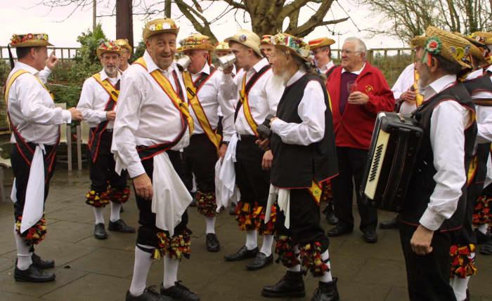 Members of the Shakespeare Morris Side