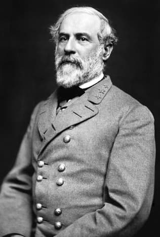 Julian Vannerson's photograph of Robert E Lee in March 1864. Confederate hero of the Civil War he was Harry's youngest son, inherited his father's military courage, but avoided his recklessness in his personal life.
