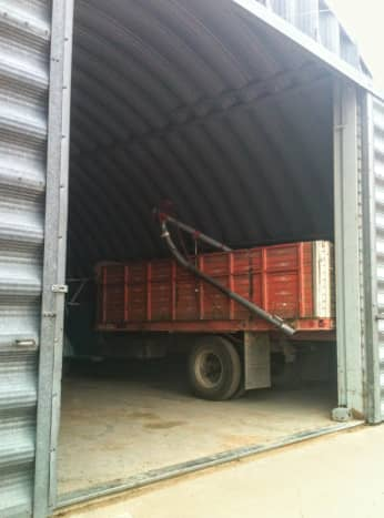 Proper storage of your bin components is essential, as white rust and other problems can develop quickly. This building is big enough to make use of a skid loader convenient.