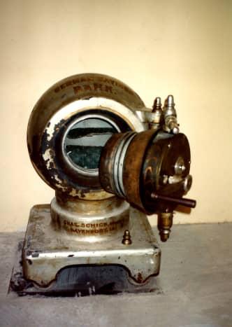 Old free-standing safe from the former German Savings Bank in Eldridge