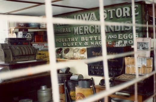 Inside view of the Keppy & Nagle General Store.