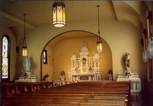 Ornate altar inside St. Ann's Church (c. 1853 - 1870)