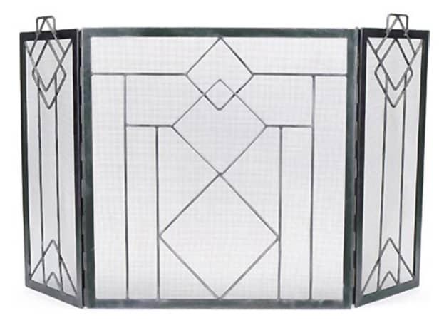 Frank Lloyd Wright Design Style Fireplace Screen