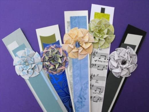 2 inch circles. Smallest Paper Flower for Bookmarks or Gift Tags