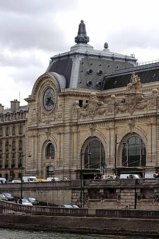 The Musee d'Orsay, the second great museum of the arts in the centre of Paris, which houses works of art from the second half of the 19th century and the early 20th century