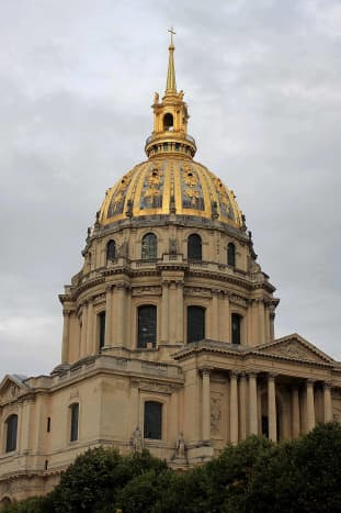 The Church of Les Invalides, just one of many treasures of the fanmous old building, and home to Napoleon's tomb