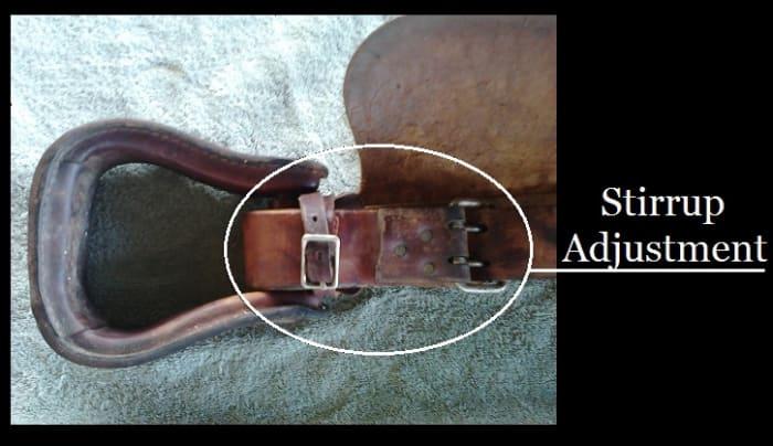 Buckle for stirrup adjustment