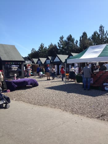 Whitstable Harbour Village Stalls—buy handmade items and street food all year around.