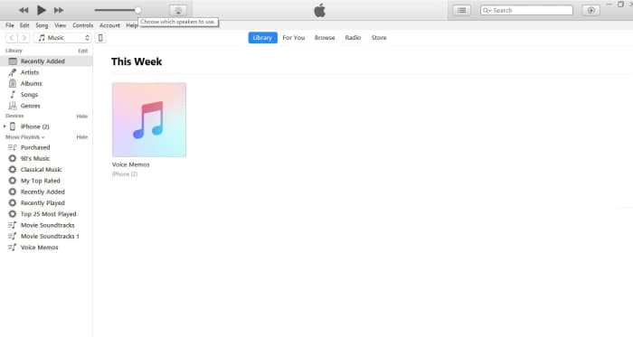Connect your iPhone or iPad to your computer and launch iTunes.