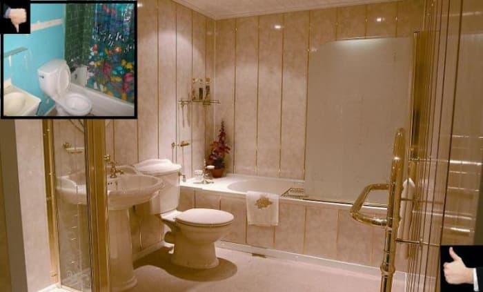 light pink elegant bathroom