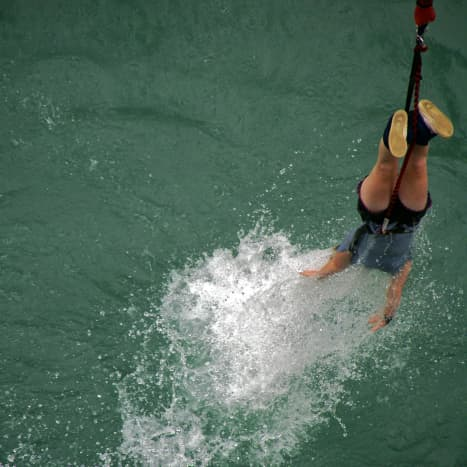 Are you an adrenaline junkie, like this bungee jumper?