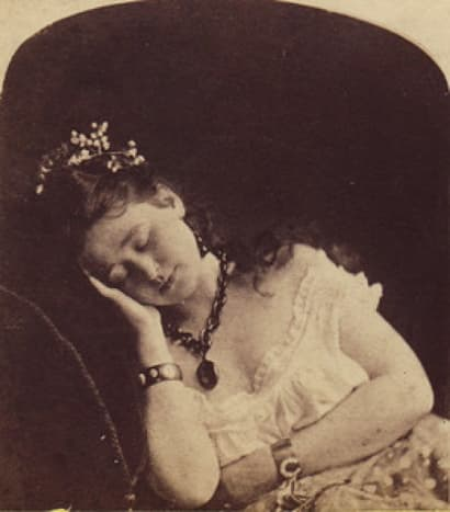 """Sleeping"" woman"
