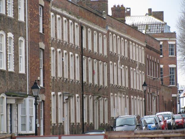 Castle Street, housing the Arts Centre