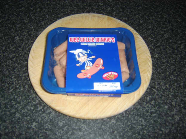 Pack of Wee Willie Winkie coctail sausages