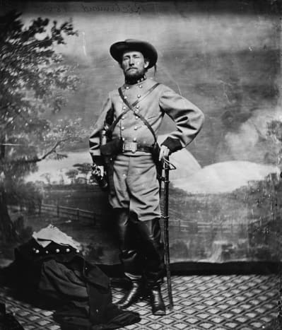 """John Singleton Mosby ( December 6 1833 — May 30 1916), also known as the """"Gray Ghost,"""" was a Confederate partisan Ranger (guerrilla fighter) in the American Civil War."""