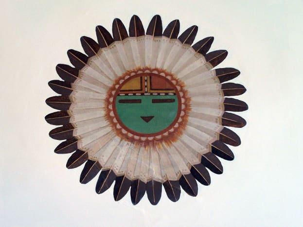 Painting of Tawa, Hopi sun spirit and creator.