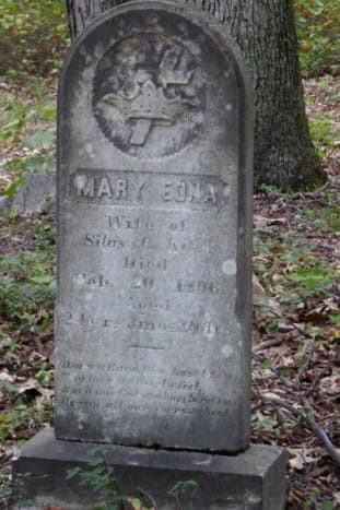 There are several old cemeteries on the property. One of the dates on this stone is 1806.