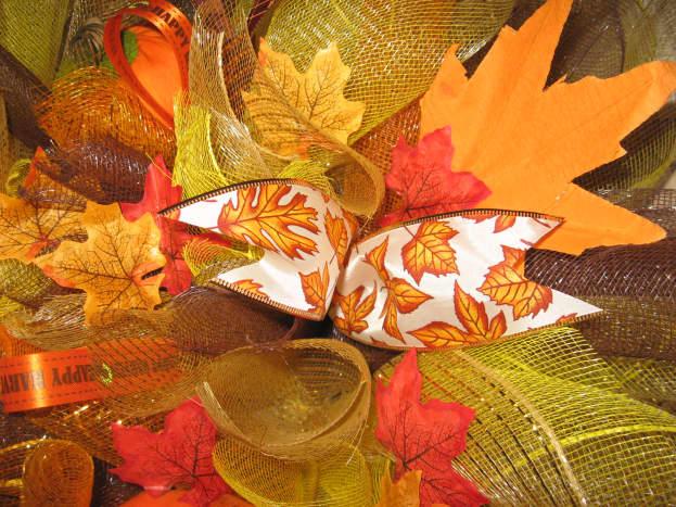 Add ribbons, leaves, flowers, etc.