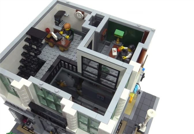 LEGO Creator Brick Bank Modular Building | The second floor.