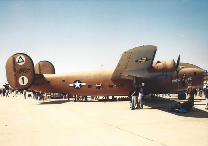 A CAF B-24 at Andrews AFB, MD.
