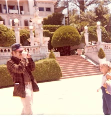 Dad at Hearst Castle