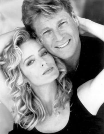 In happier times with Ryan O'Neal
