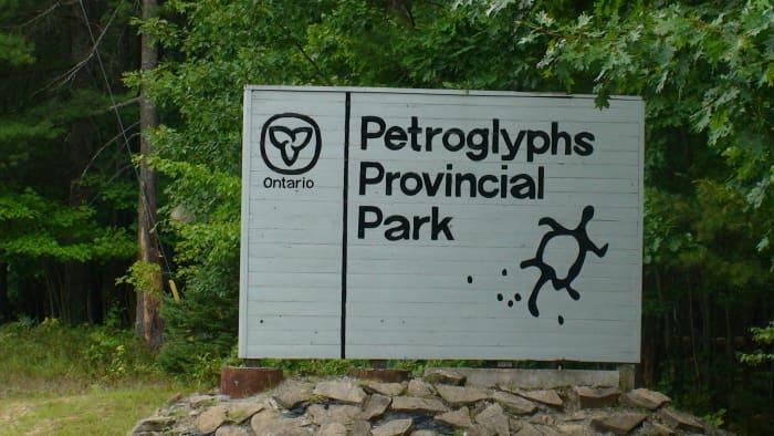 Entrance to Petroglyphs Provincial Park.