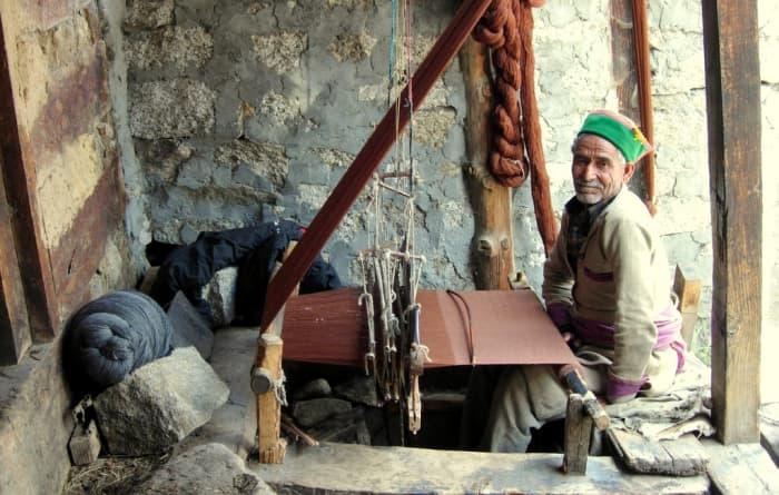 Weaving isa  very common  Vocation in Kinnaur