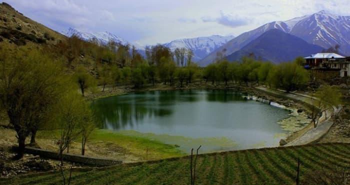 Nako Lake at Nako Village in Hangrang valley, Kinnaur