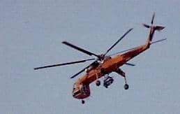 A Sikorsky Tarhe in civilian service over Staten Island, NY, circa 1986.