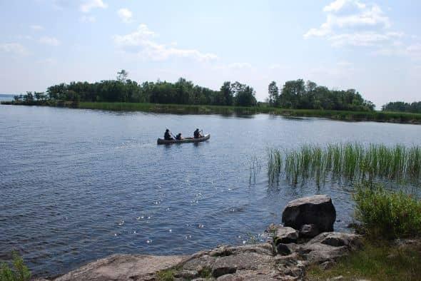 Canoe on Black Bay