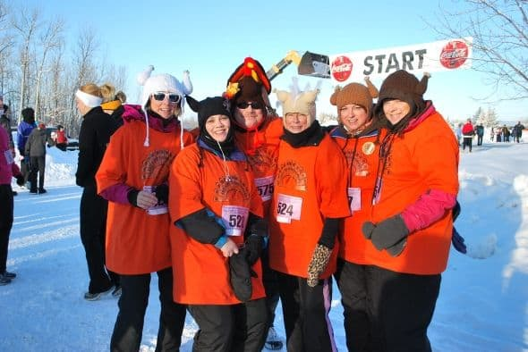 Five sisters make up a team of Runners for the 31st Annual Race, and they dress for the occasion.