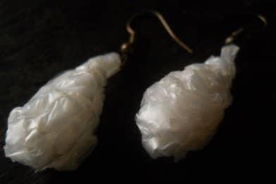 3D Ice Tear Drop Earrings