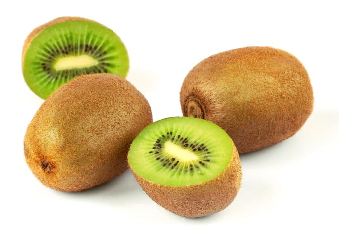 Fuzzy skinned kiwifruit (A. chinensis)