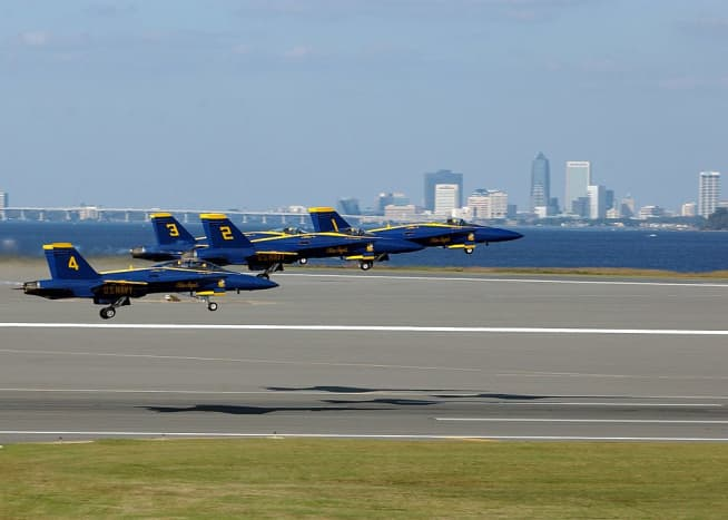 Annual Blue Angels Show at the NAS.