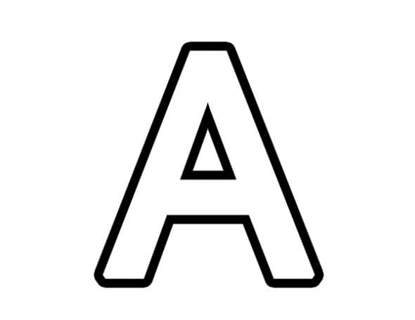 Alphabet Coloring Image A