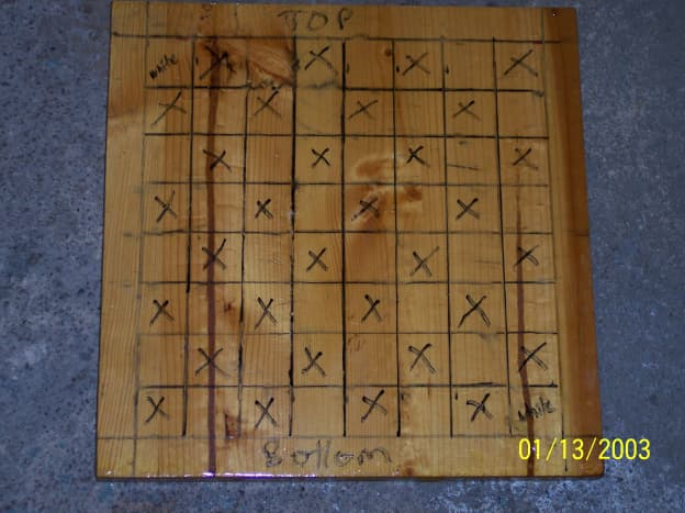 """Final Grid: """"X""""s are the Black Squares"""