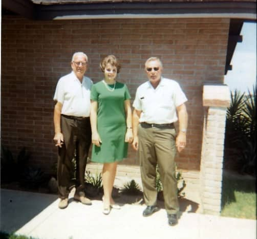 My grandpa, me, and my dad